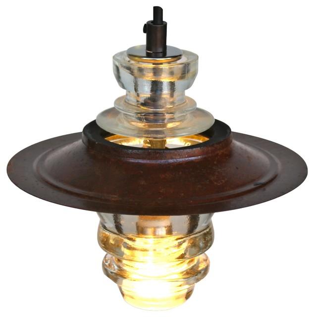 "Insulator Light LED Pendant W/7"" Metal Hood"