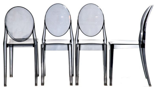 sold out four philippe starck ghost chairs by kartell 1 400 est retail 4. Black Bedroom Furniture Sets. Home Design Ideas