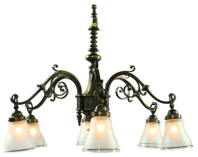 Pre Owned Large Vintage French Gothic Chandelier