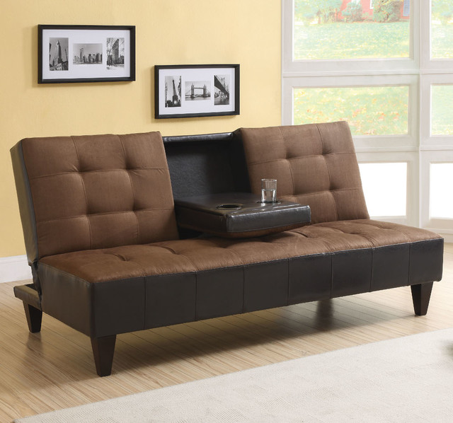 Kei Adjustable Sofa with cup Holder in Chocolate  : modern furniture from houzz.com size 640 x 598 jpeg 86kB