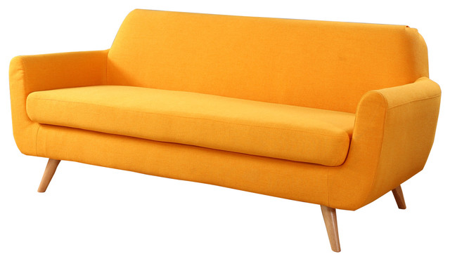 Mid Century Colorful Linen Fabric Sofa In Colors Yellow  : retro soffor from www.houzz.se size 640 x 372 jpeg 39kB