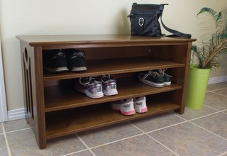 mac shoe boot storage bench contemporary accent and storage benches san diego by woodistry. Black Bedroom Furniture Sets. Home Design Ideas