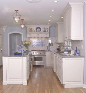 White Modern Classic Kitchen Miami By Angie Keyes Ckd