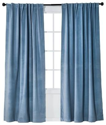 Blue Velour Curtains   Best Curtains 2017