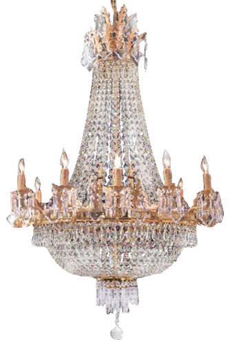 French empire crystal chandelier traditional chandeliers by gallery - Traditional crystal chandeliers ...