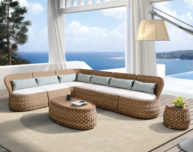 Outdoor living higold mosch lounge set modern for Outdoor furniture miami