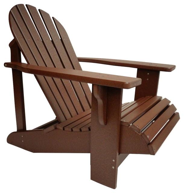 Poly Adirondack Chair In Classic Style, Mahogany Contemporary Adirondack Stolar Av Andrew
