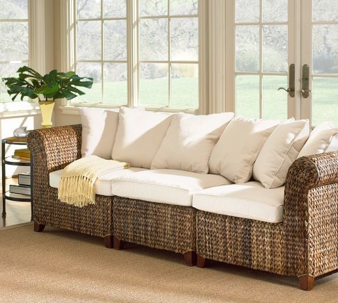 Seagrass 3 Piece Sofa Pottery Barn Tropical Patio Furniture And Outdoor Furniture By