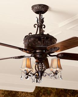 Quot Antoinette Quot Ceiling Fan Amp Light Kit Traditional Ceiling Fans By Horchow