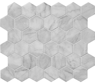 Hexagon marble mosaic tile avenza contemporain carrelage for Carrelage hexagonal marbre