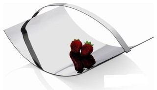 stainless steel decor adelaide 39 fruit plate moderne assiette d corative other metro. Black Bedroom Furniture Sets. Home Design Ideas