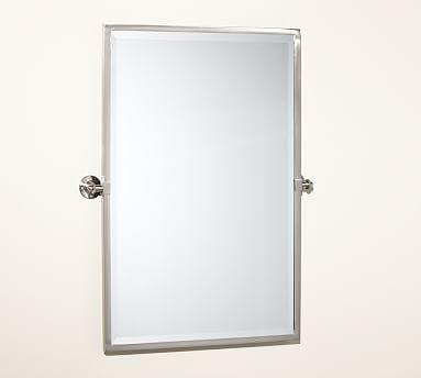 Kensington pivot mirror extra large rectangle satin for Pivot mirrors for bathroom