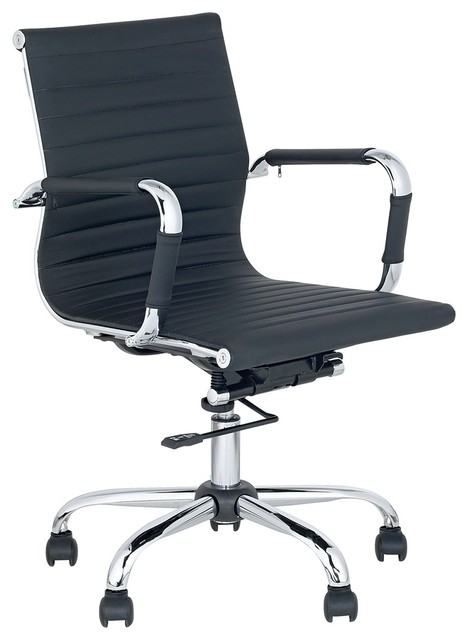 black low back swivel office chair contemporary living room chairs