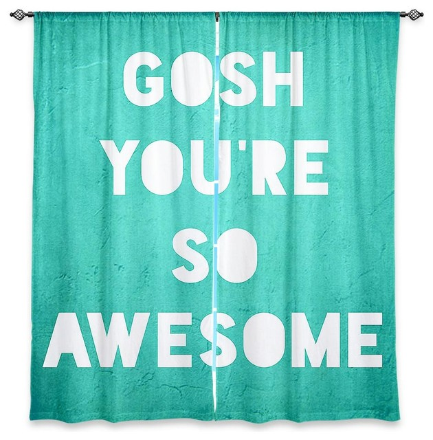 ... Window Curtains by Rachel Burbee Awesome Teal contemporary-curtains