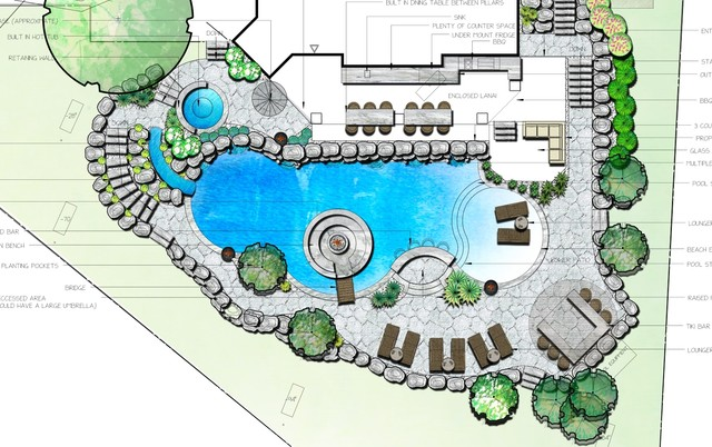 Landscape Designs 2d 3d Beach Style Pool Toronto