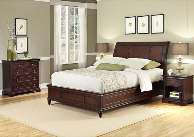 King Sleigh Bed Set Contemporary Bedroom Furniture Sets By