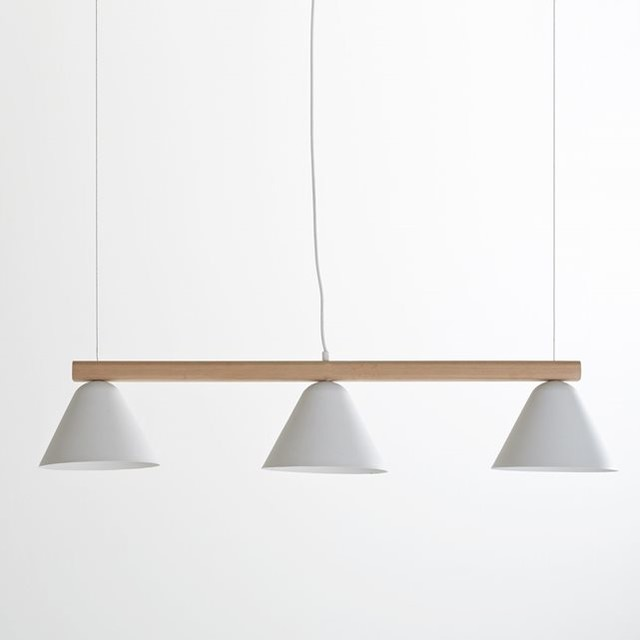 Suspension longiligne cotapi contemporain suspension for Suspension luminaire triple