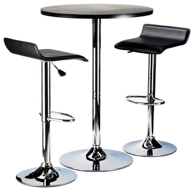 Spectrum 3 piece pub table set 24 round black table with for 99 pub table