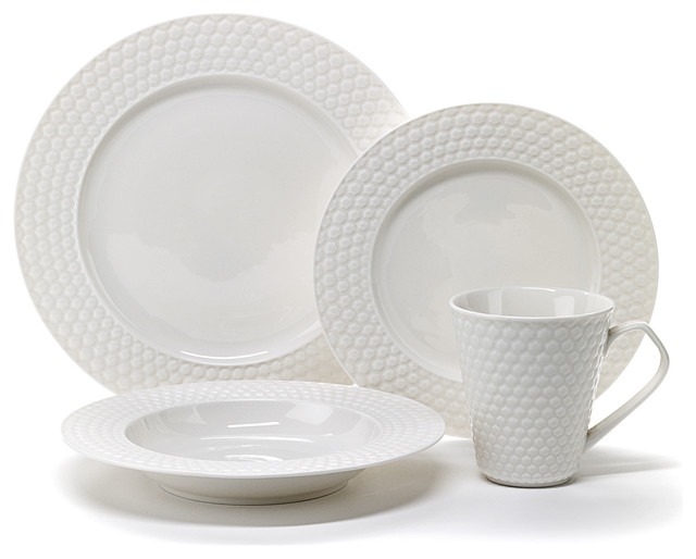 Cuisinart Chailles 16 piece White Dinnerware Set  : contemporary dinnerware sets from www.houzz.com size 640 x 514 jpeg 46kB