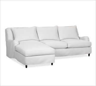 with chaise washed linen cotton wh traditional sectional sofas