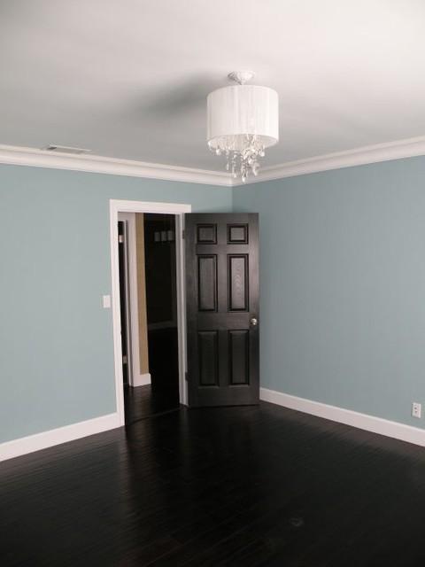 dark wood floors. Black Bedroom Furniture Sets. Home Design Ideas