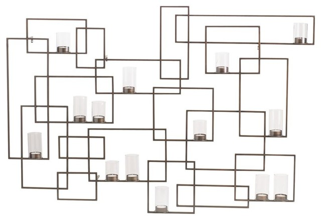 circuit metal wall candle holder - contemporary