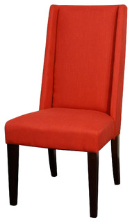Lucas Fabric Dining Chair Paprika Set Of 2 Contemporary Dining Chairs
