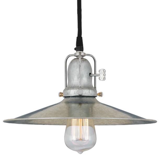 The spoked speakeasy cord hung ceiling light industrial for Industrial flush mount lighting