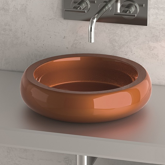 Glass Sink Bowls Stainless Steel by MaestroBath - Modern ...