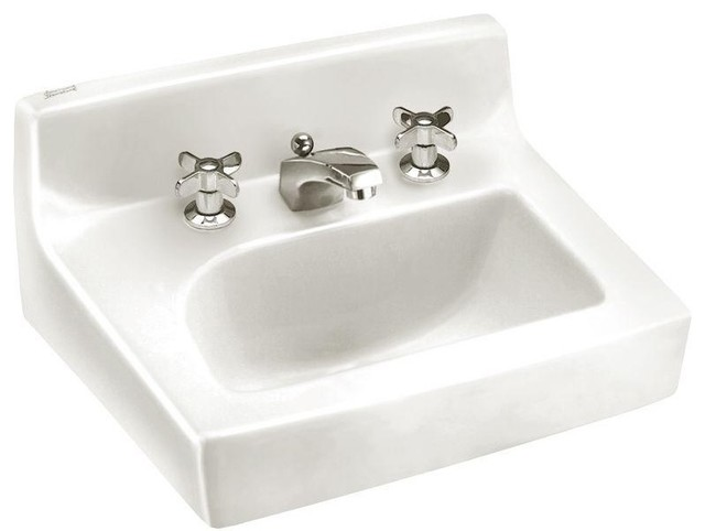 American Standard 0373.027.020 Penlyn Wall-Mount Bathroom Sink, White ...