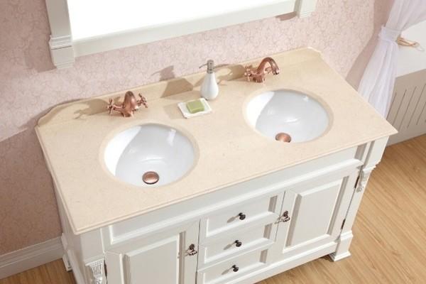 Double Basin White Vanity Traditional Vanities Traditional Bathroom Vanities And Sink