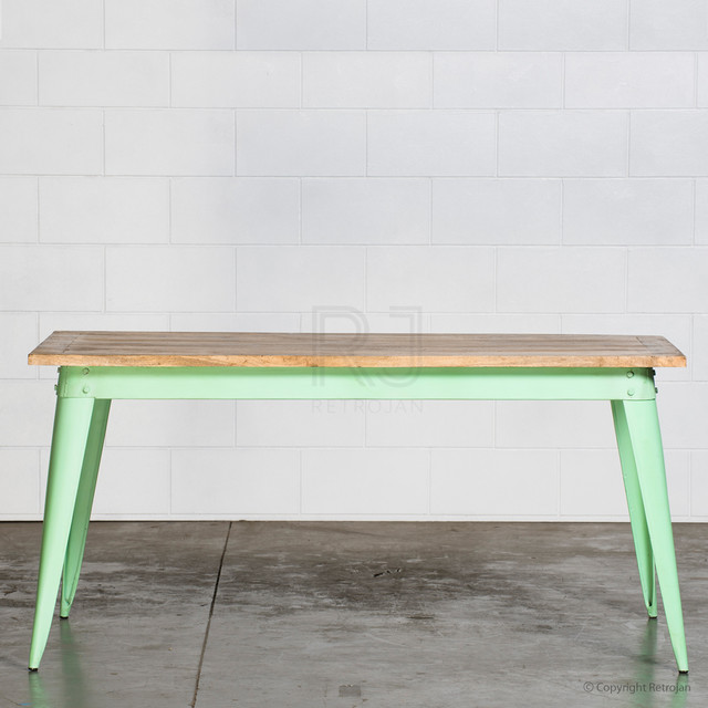Small Industrial Dining Table: Retro Nash Table