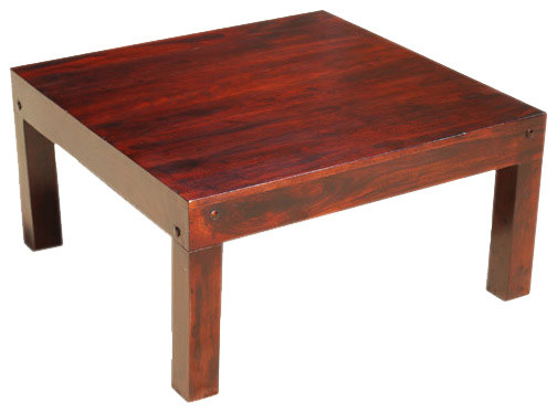 Sierra Solid Wood Contemporary Large Square Coffee Table Contemporary Coffee Tables By
