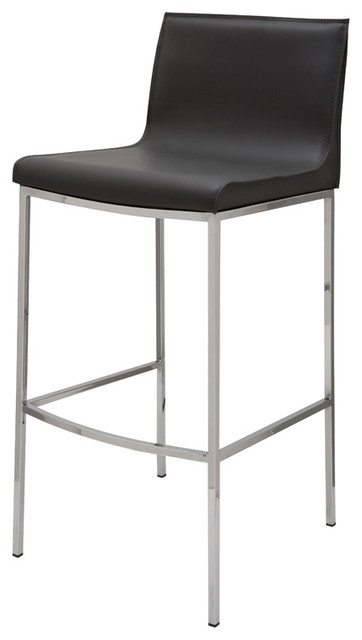 Colter Counter Stool By Nuevo Living Dark Grey Modern