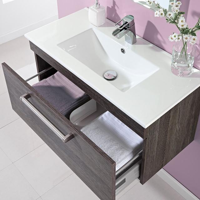 800mm Wall Mounted Vanity Unit - Modern - Bathroom Vanity Units & Sink ...