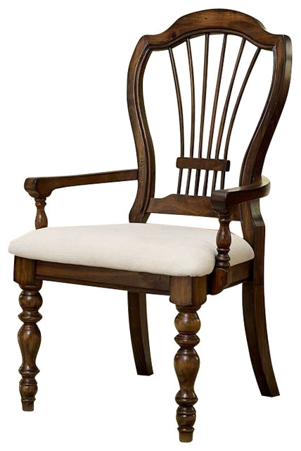 Hillsdale Pine Island Wheat Back Arm Chairs Set Of 2