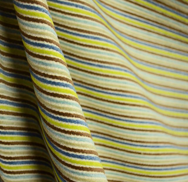 Zipline Poolside Brown Blue Green Corduroy Stripe