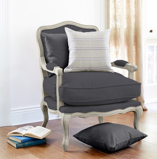 French Louis Chair Charcoal Traditional Armchairs And Accent Chairs S