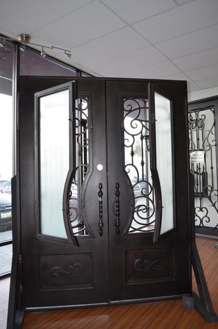 New wrought iron doors model 0097 mediterranean front for New model front door
