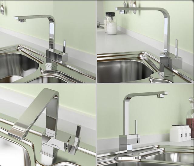 kitchen faucet bauhaus look k chenarmaturen von