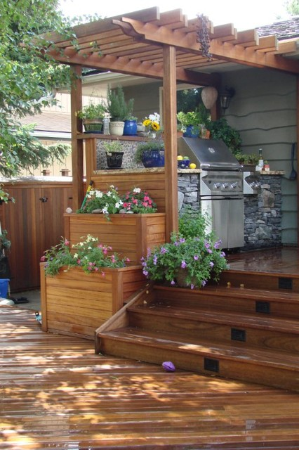 Exotic decking, fencing, stairs, planter boxes, and pergola ...