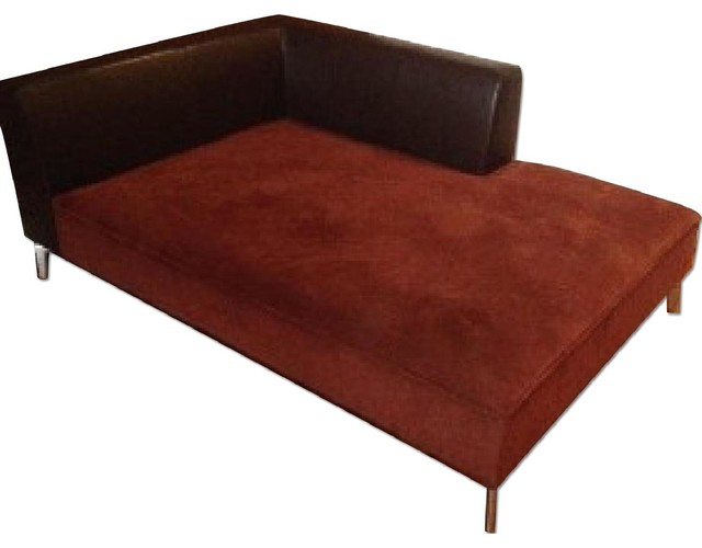ligne roset dark brown chaise indoor chaise lounge chairs new york by aptdeco. Black Bedroom Furniture Sets. Home Design Ideas
