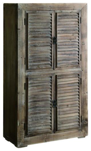 Crestview CVFZR468 Shutter Cabinet - Transitional ...