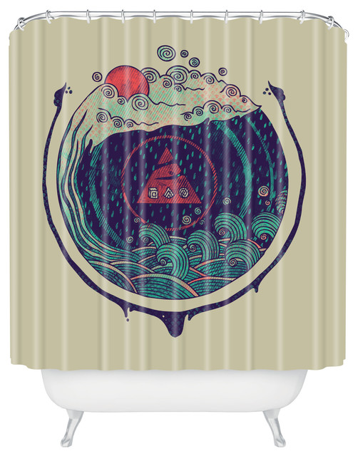 Deny Designs Hector Mansilla Water Shower Curtain Asian Shower Curtains