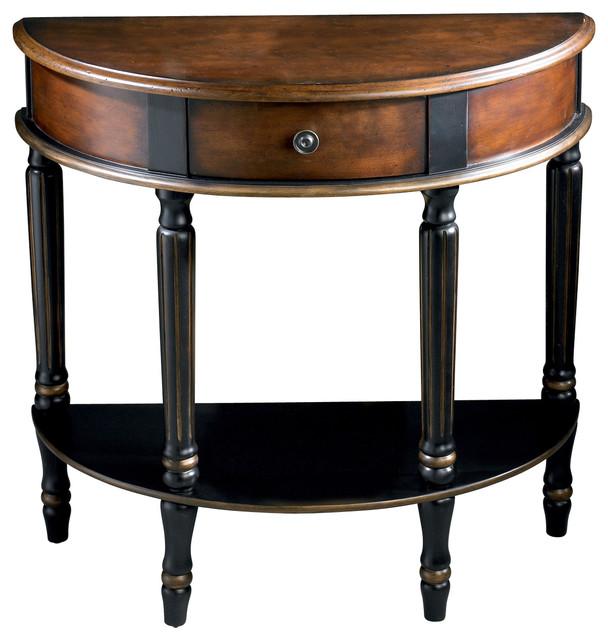 Mozart cafe noire demilune console table contemporary - Table console noire ...