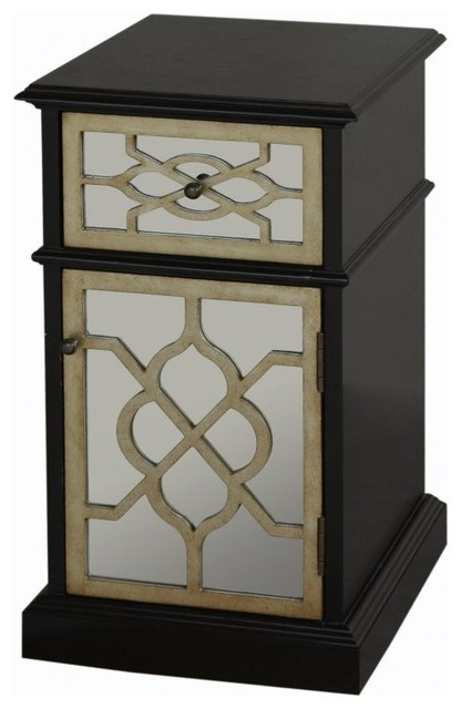 Home meridian medina chairside cabinet ds 766012 for Meridian cabinet doors