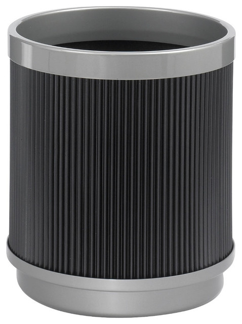 At your disposal wastebasket black modern wastebaskets - Modern wastebasket ...