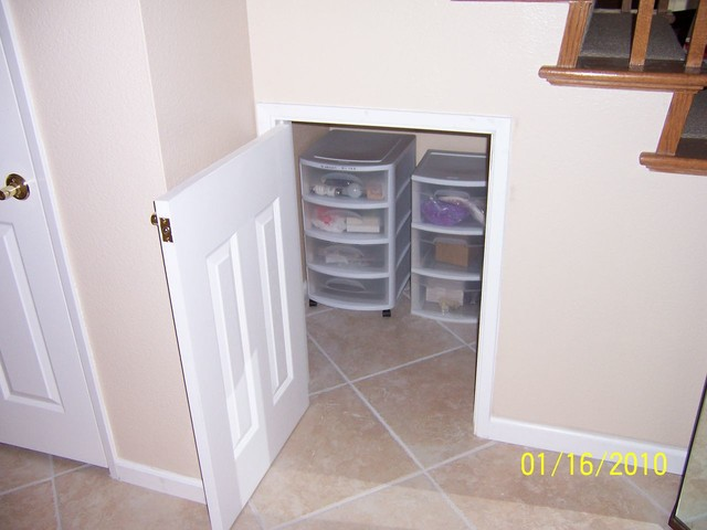 storage under stairs traditional