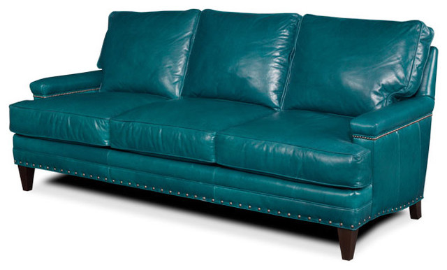 Turquoise Leather Sofa Sofas By Tufted Home