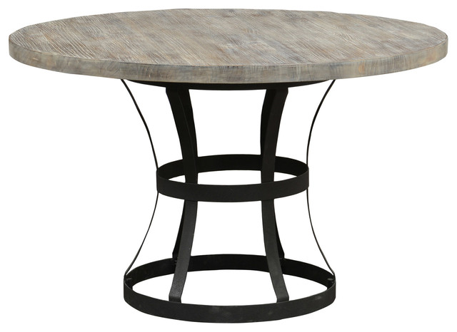 Rebecca Pedestal Dining Table Industrial Dining Tables By Kosas